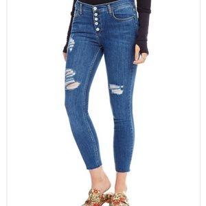 Free People Reagan Distressed Crop Skinny Jeans